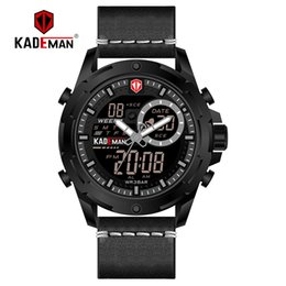 Dual Luxury Watches Australia - KADEMAN New Fashion Sports Watch Men Luxury Dual Display Digital Wristwatch Waterproof TOP Brand Quality Watch Relogio Masculino