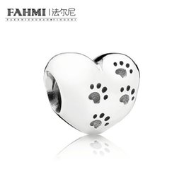 $enCountryForm.capitalKeyWord Australia - FAHMI 100% 925 Sterling Silver 791262 Paws prints silver charm Beaded Original Jewelry Women's Wedding Holiday Charming Gift