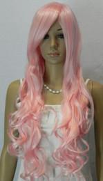 $enCountryForm.capitalKeyWord Australia - WIG shipping New Blonde Ladies Long Pink Curly Fancy Dress Hair Full Wigs