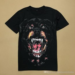top dog clothing NZ - Men Big DOG PRINTED Designer Clothing Tees Summer Black Fashion Tshirts Hommes Tops
