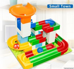 Maze Balls Australia - 52Pcs Construction Marble Race Run Maze Balls Track Building Blocks Big Size Educational Bricks Compatible with Legoed Duploed DIY Assembly