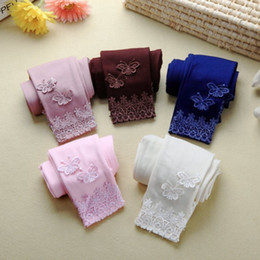 $enCountryForm.capitalKeyWord Australia - Spring Autumn Casual New Toddler Kid Baby Lace Butterfly Warm Long Pants Girl Stretchy Trousers Lycra Leggings For Girls