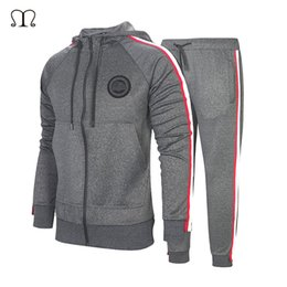 $enCountryForm.capitalKeyWord NZ - Tracksuit For Men 2 Pieces Set New Fashion Jacket Sportswear Men Tracksuit Hoodie Spring Autumn Brand Clothes Hoodies+Pants