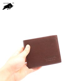 Wholesale New Casual Men s Bifold Business Leather Vintage Wallet Letter Print Striped Card Holder Purse
