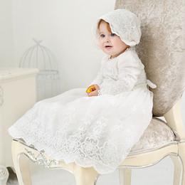 3t girl baptism dresses 2019 - Retail 2019 Newborn Baby Girls Baptism White Princess Dress Infant Birthday Costumes Cute Lace Wedding Clothing 6130BB c