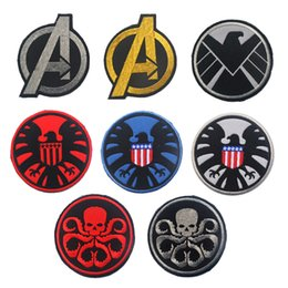 $enCountryForm.capitalKeyWord NZ - The Avengers Hydra shield 3D Army Embroidery Badge Morale Embroidered Patch Appliques Hook & Loop