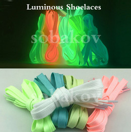 Wholesales Shoelace Charms Australia - New trend Luminous Shoelace Sport Men Women Shoe Laces Glow In The Dark Fluorescent Shoeslace for Sneakers Canvas Shoes