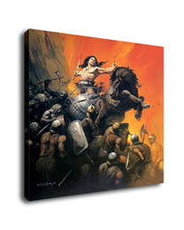 fantasy art oil paintings Australia - Fantasy Art Warrior Of War, Oil Painting Reproduction High Quality Giclee Print on Canvas Modern Home Art Decor