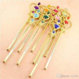 $enCountryForm.capitalKeyWord Australia - Snowflake ribbon wands crown set fairy wand girl Christmas party snowflake gem sticks magic wands headband crown tiara colorful IB701