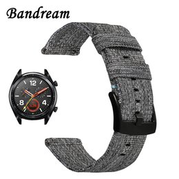 $enCountryForm.capitalKeyWord Australia - Canvas Nylon Watchband For Huawei Watch Gt Quick Release Band Stainless Steel Clasp Strap Wrist Bracelet Wristband Black Grey T190620