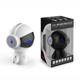 Cute bank online shopping - Newest DingDang Cute M10 portable Robot Bluetooth Speaker Stereo Handsfree with power bank AUX TF MP3 Music Player