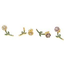 $enCountryForm.capitalKeyWord UK - Cute Romantic Lovely blue\red Stone Flower Shape Simple daisy Stud Earrings purple\gold Cubic Zirconia For Women friend ear gift