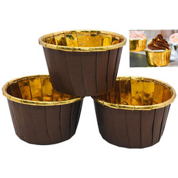 Chinese  Cake Decorating Supplies Paper Cup Cups Cases Gold Cupcake Liners Cake mold Kitchen Accessories birthday party wedding decoration HH9-2166 manufacturers