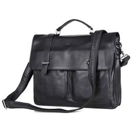 Unique Computers UK - Augus New Arrivals Fashion Unique Black Color Briefcase Shoulder Bag Handbag Large Capacity Messenger Bag for Business Men 7100A #222103