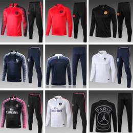 Discount track gold - 18 19 Paris soccer Tracksuit DI MARIA MBAPPE Track suits jacket 2018 2019 CAVANI chandal training suits sports wear