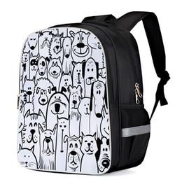$enCountryForm.capitalKeyWord NZ - Cartoon Black And White Dog Cat Pattern Tactical Backpacks College Backpacks Laptop Backpack Travel Backpack School