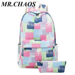 Discount new school bag set - New Arrival Student School Bags 2pcs set for Teenager Girls Multi Function Laptop School Backpack women bagpacks girl ba
