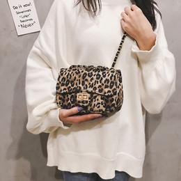 Shoulder Bag Print Australia - Belle2019 Woman Bag The Tide All-match Messenger Chain Leopard Print Single Shoulder Atmosphere Small Square Package
