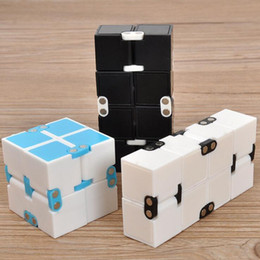 Kids Blocks Wholesale Australia - 5 Colors Infinity Cube Mini Cube Toys Kids Magic Cube Blocks Adults Finger Anxiety Toy Stress Relief Decompression Toys CCA11443 60pcs