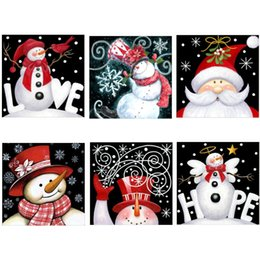 Mosaic eMbroidery online shopping - 25 CM Full Drill D Diamond Painting Kits Christmas Santa Claus Embroidery Cross Stitch kits living room mosaic pattern Home Decor