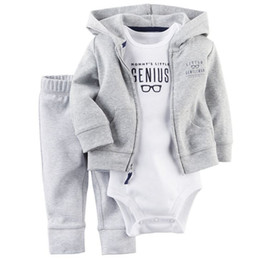 cute casual spring outfits NZ - Outfit Kids Clothes Suit Infant Tracksuits fashion Autumn Winter Cute clothing 2 pcs suit Free Shipping