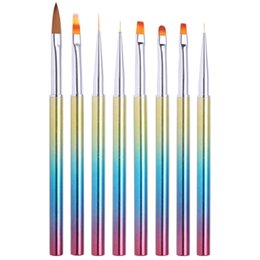 $enCountryForm.capitalKeyWord Australia - Cheap Brushes 1PC Acrylic Nail Brush Liner UV Gel Painting Dotting Pen Gradient Handle Manicure Pattern Nail Art Tools