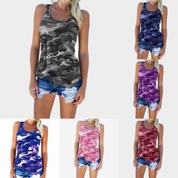 Camouflage T Shirt Printing NZ - Camouflage Print T shirt 2019 Summer Sleeveless vest Women Tee Fashion Female Tops maternity Clothing C6072