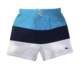 Swimwear Three UK - 2019 Summer Swimwear Beach Pants Mens Board Shorts Mens Surf Shorts crocodile Swim Trunks Sport Shorts Three kinds of color splicing M-2XL
