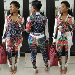 05367e6f4ef Sexy Sweat Suits Two Piece Sets Tracksuit Women Casual Long Sleeve Autumn  Print T-shirt Tops and Full Length Pants 2 Pcs Outfits