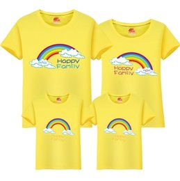 $enCountryForm.capitalKeyWord UK - Family T-shirt Mom Dad Daughters Children 2019 New Cute O-neck T Shirt Family Cartoon Cotton Tops Matching Mother Clothing Fy052