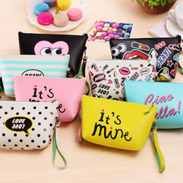 lip print bag Australia - Lips Makeup Bags Zipped Sexy Lady Clutch Bags Women Travel Storage Bags Change Coin Purse 8 Designs DW833