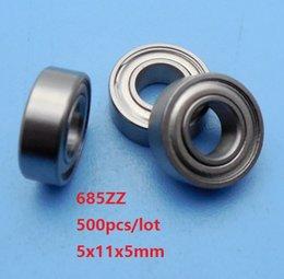 Shield Ball NZ - 500pcs lot 685ZZ 685 ZZ 5x11x5mm deep groove ball bearings Miniature bearing metal shielded 5*11*5mm