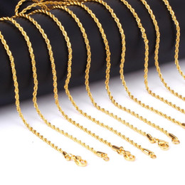 Celtic Stainless Steel Wholesalers Australia - Top Quality 316 Stainless Steel 4mm Rope Chains Necklace Gold and Silver 18 inch 24 inch