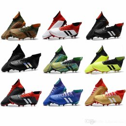 edd0ace2e57 2019 Predator 18 FG Soccer Cleats Chaussures De Football Boots Mens High Top  ace Cristiano Ronaldo Soccer Shoes Neymar JR Football Shoes