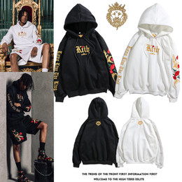 White Rose Pullover Australia - Mens white designer hoodie sweatshirt sweat coat pullover jackets Embroidered Black Gold Sweater Platinum Rose Hoodie hood