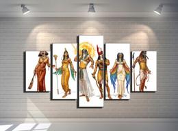 Egypt Figures Australia - Gods of Egypt,5 Pieces Home Decor HD Printed Modern Art Painting on Canvas (Unframed Framed)