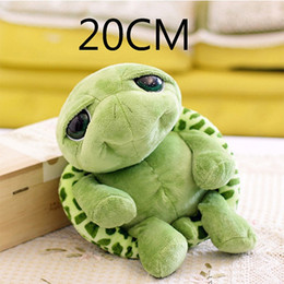 Eyes Games NZ - 20cm Super Green Tortoise Cartoon Big Eyes Turtle Stuffed toys Animal Turtle Plush toys For Kids