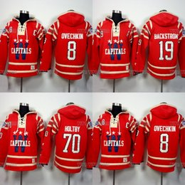 Washington Capitals Hoodies Jersey 8 Alexander Ovechkin 19 Nicklas  Backstrom 70 Braden Holtby Stitched Hoodie Sweater Ice Hockey Jersey 9e365994d181