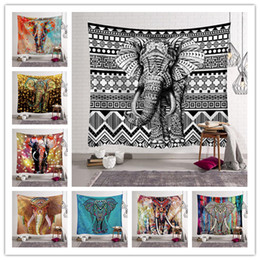 ElEphant dEcorations homE online shopping - Lucky Elephant Tapestry Wall Hanging Multifunctional Beach Towel Shawl Yoga Mat Picnic Pad Home Party Decoration Bedroom Livingroom
