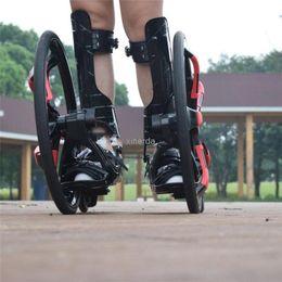 Outdoor Street Freeline Skateboard Slip Rubber Roller Skates 20 inch 2 Big Wheels Inline Skating Shoes Adult Size 37-45 TF-01 on Sale