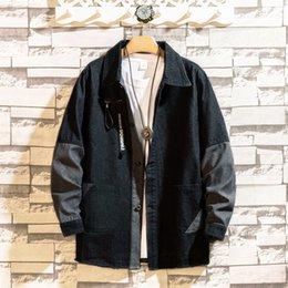 $enCountryForm.capitalKeyWord Australia - Classic Broken Old Splice Jacket Denim Jeans Jackets Coats Spring Leisure Loose Vintage Style Men Casual Clothing