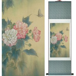 Chinese Floral Paintings Australia - Traditional Chinese Art Painting Silk Scroll Art Painting Flower Painting 061307