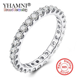 Real Engagement Rings China NZ - YHAMNI Classic Fashion Wedding Engagement Ring Full Cubic Zirconia Jewelry Real Solid 925 Sterling Silver Rings For Women XR226