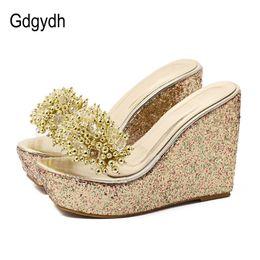 $enCountryForm.capitalKeyWord Australia - Gdgydh Rhinestone Wedges Sandals Women 2019 Summer Sexy Trifle Slides Casual Beading Open Toe Female Sandals Platform Shoes Y19070503