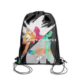 Strung Feathers Australia - Drawstring Sports Backpack Avicii The Days Nights EPpopular adjustable cinch Pull String Backpack