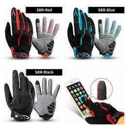 Women road bikes online shopping - Cycling Gloves Touch Screen SBR Bike Gloves Sport Shockproof MTB Road Full Finger Bicycle Glove For Men Woman LJJZ118