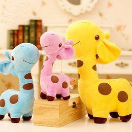 $enCountryForm.capitalKeyWord Australia - Cute Baby Toys Rainbow Giraffe Plush Toys Dolls For Kids Brinquedos Gift For Baby Christmas Gifts kids cute toys