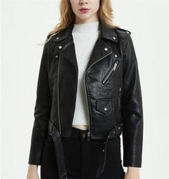 f6d3db683f0 Black korean ladies jacket online shopping - Black and Blue Autumn and Winter  Spanish Ladies PU