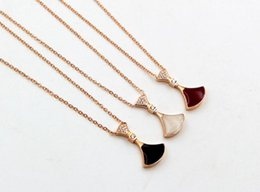 Micro Oil NZ - Temperament color drop oil micro-encrusted fan-shaped rose gold necklace hipster drop tape drill small skirt clavicle chain