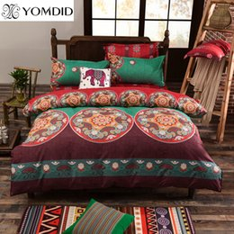 king size duvets sale Australia - Bohemian Style 3pcs Bedding set Floral Elephant Printed Bed linens Twin Queen King Size 3pcs Duvet Cover Pillow case Hot sale